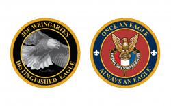 Distinguished Eagle Personalized Challenge Coin 50 coins
